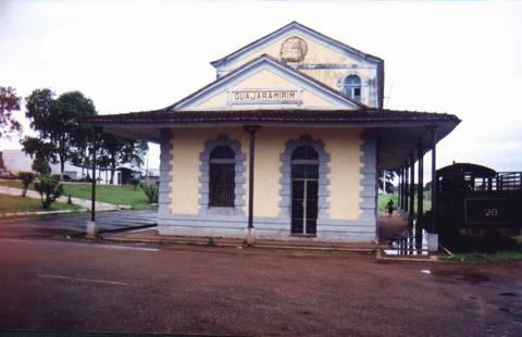 Antiga estação terminal da Estrada de Ferro Madeira Mamoré