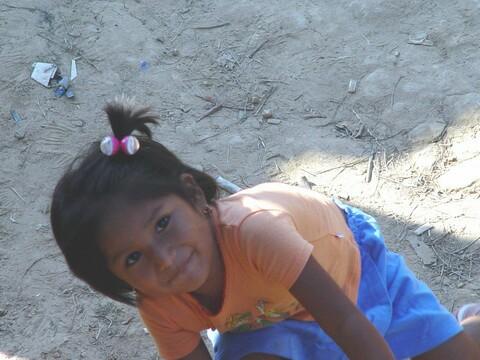 Menininha boliviana que não queria deixar eu tirar foto dela...