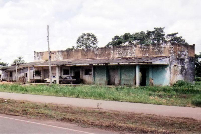A antiga estação de trem.