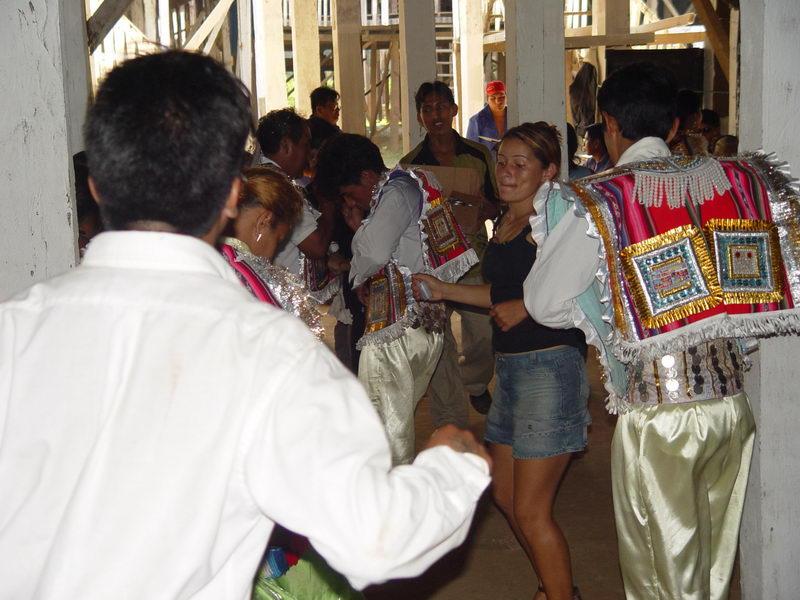 Celebração religiosa que estava ocorrendo no dia de nossa visita.