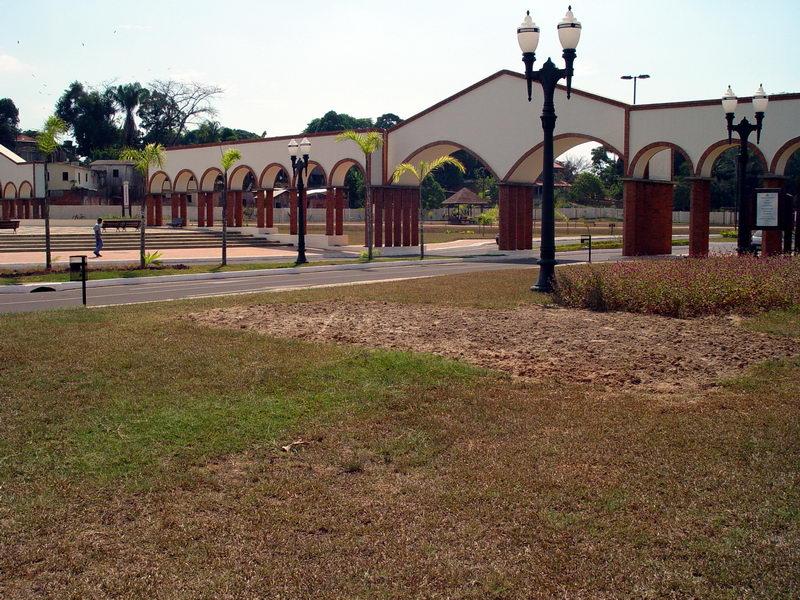 Portal do Canal da Maternidade, antigo córrego que cruza o centro da cidade, hoje recuperado e urbanizado, o Ibirapuera dos Acreanos