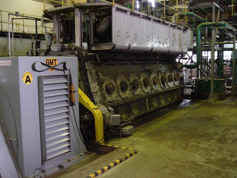Conjunto Motor-Gerador de fabricação Italiana.