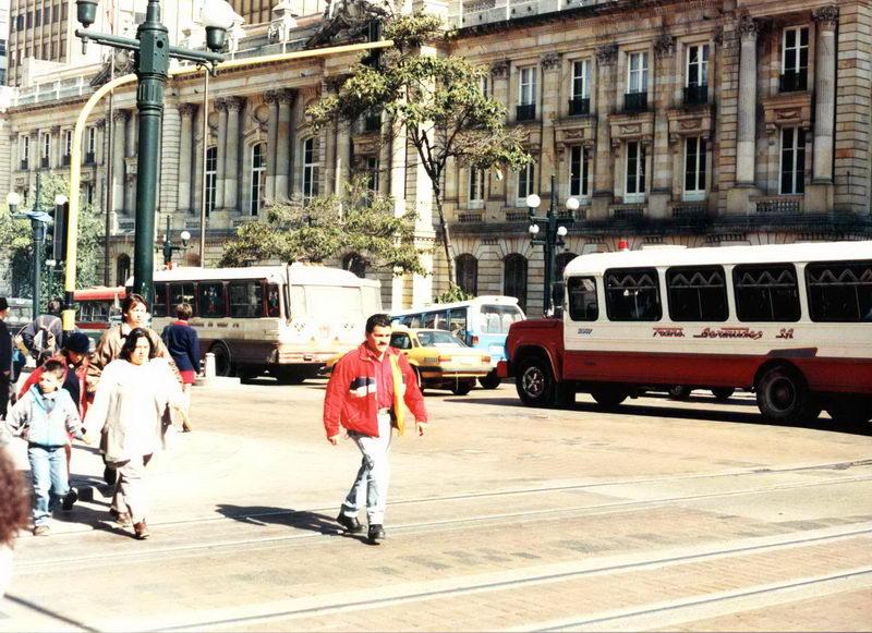 Uma cena do centro de Bogotá