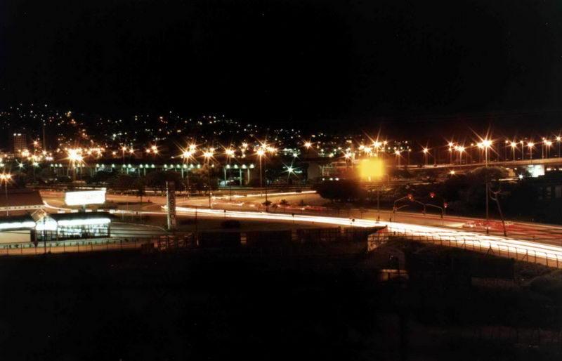 Trevo de chegada em Floripa, após passar a ponte