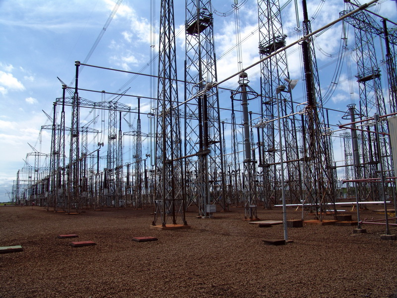 Parte do imenso pátio de 750kV