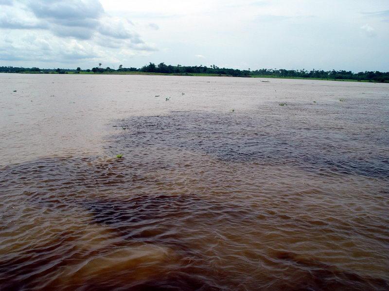 O encontro do Rio Negro com o Solimões...