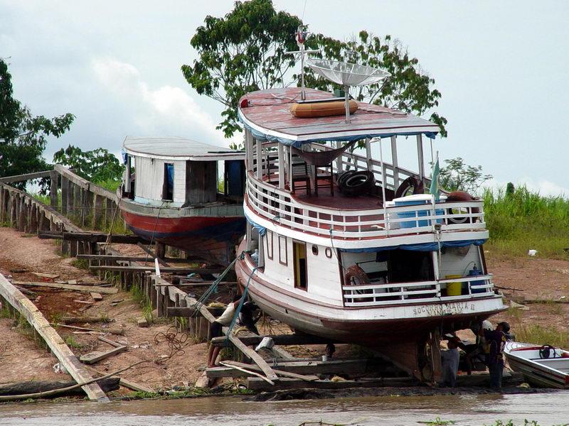 Uma oficina de Barcos.