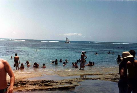 O Mar visto da praia