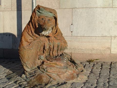 Estátua no centro de Estocolmo